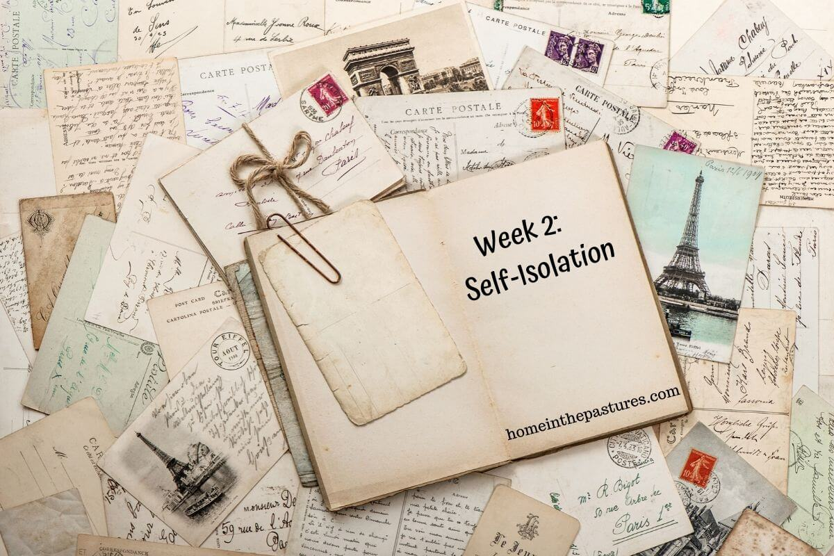 Week 2 self isolation