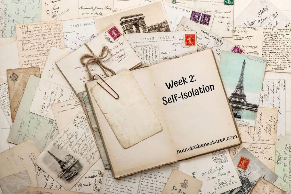 Week 2 self isolation