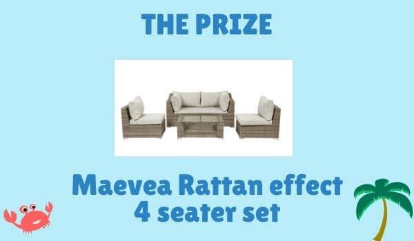 Maevea Rattan Effect 4 Seater Set