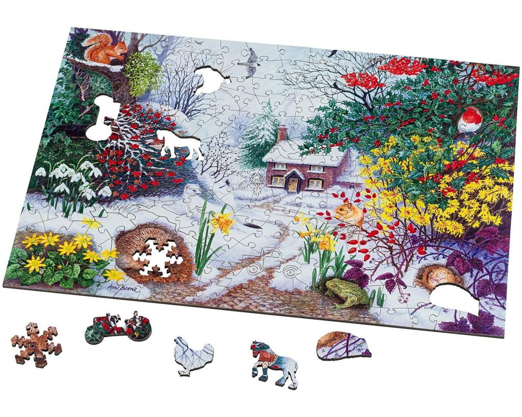 Winter Hedgerow Jigsaw Puzzle in 250 pieces
